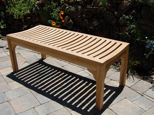 4′ Backless Garden Bench