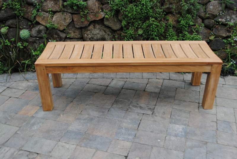 5′ Backless Garden Bench