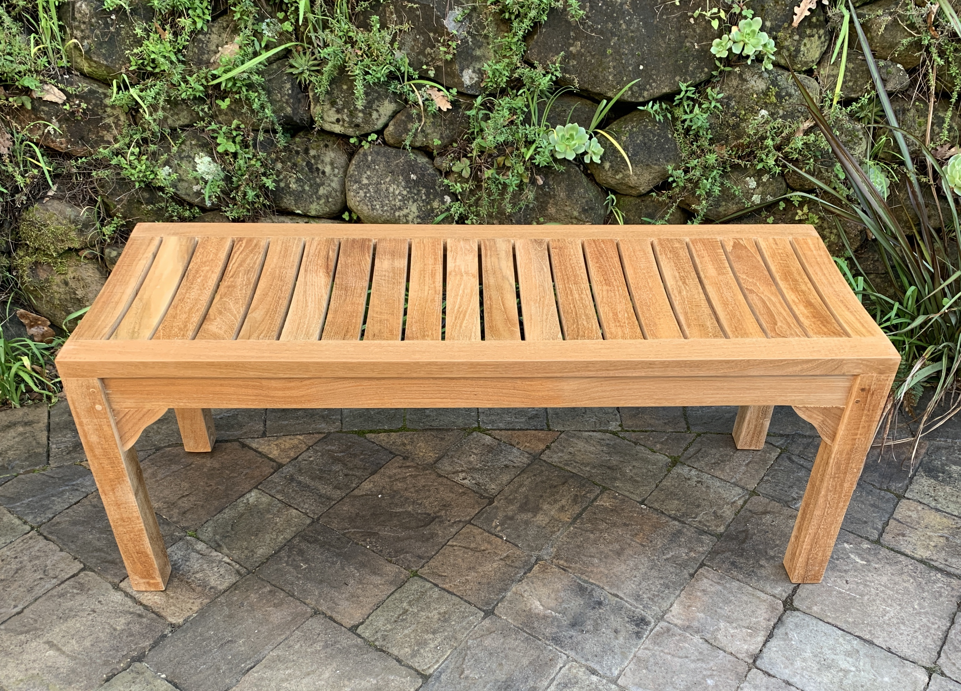 Picture of: 44 Backless Garden Bench Paradise Teak