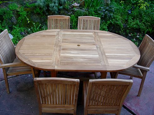 Round to Oval Extension Table