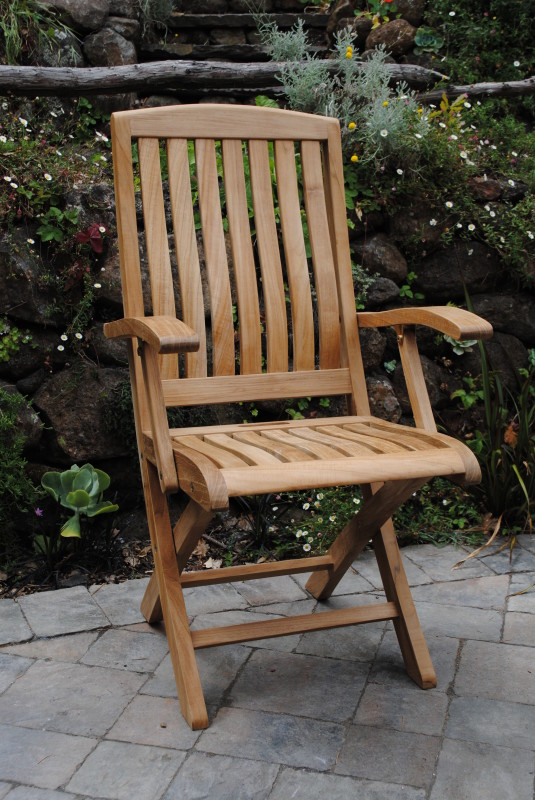 Yountville Folding Arm Chair