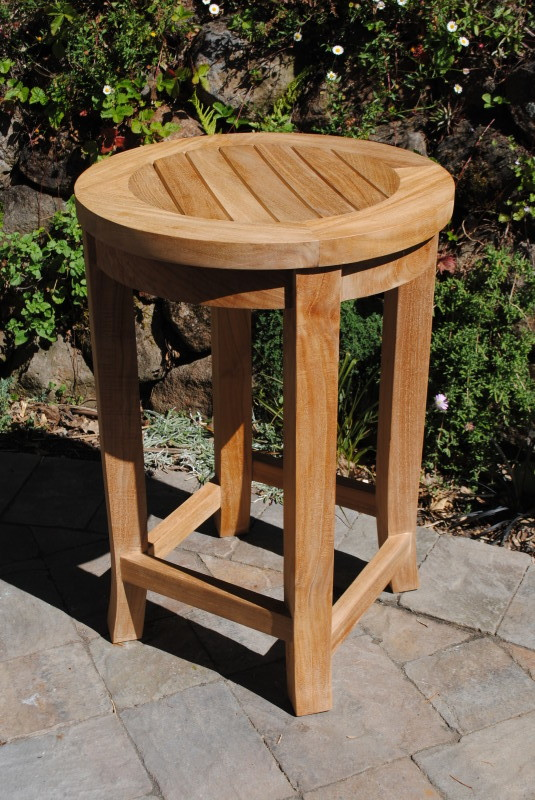 Round Counter Height Teak Stool Paradise Teak