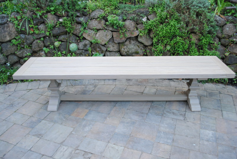 Tuscany Collection Reclaimed Teak Bench – Pedestal Base