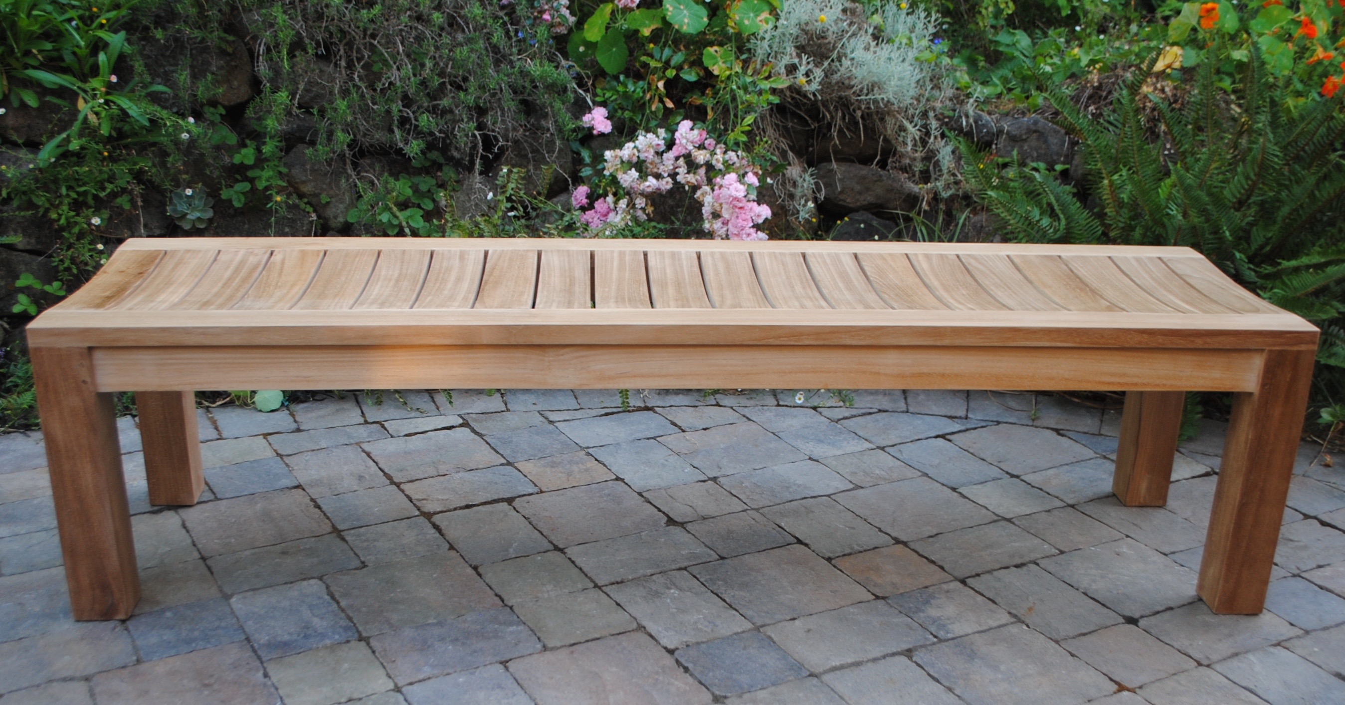 6'Backless Garden Bench